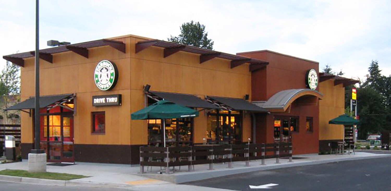 Starbucks modular building by Blazer Industries
